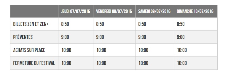 Horaires Japan Expo 2016