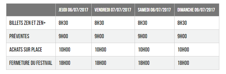 Horaires Japan Expo 2017